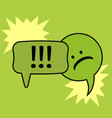 communication speech bubbles on green background vector image