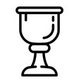 cup of wine icon outline style vector image vector image