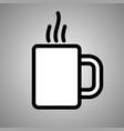 cup tea icon cup tea in eps 10 vector image vector image