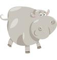cute hippopotamus cartoon vector image vector image