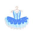 dance dress with sparkles on a hanger vector image vector image