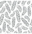decorative feathers seamless pattern vector image vector image