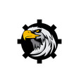 eagle head tech logo vector image vector image