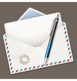 envelope end pen vector image vector image