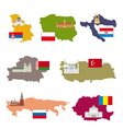 Flags and countries vector image vector image