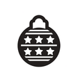 flat icon in black and white Christmas balls vector image vector image