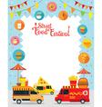 Food Truck Street Food Festival Poster Frame vector image