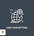 geo targeting line icon vector image