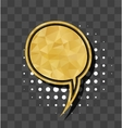 Gold sparkle comic text bubble vector image