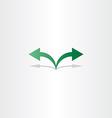 green arrow left right icon logo vector image vector image
