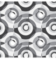 Grey Abstract Spiral Background Seamless Pattern vector image vector image