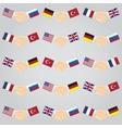 handshake between countries vector image