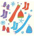 hats and socks vector image vector image