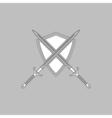 heraldry computer symbol vector image vector image