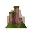 high rock mountains in summer season outdoor vector image vector image