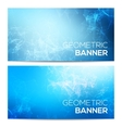 horizontal banners set with polygonal vector image vector image