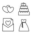 icon set wedding marriage graphic vector image