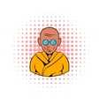 Indian monk in sunglasses icon comics style vector image vector image