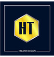 initial letter ht logo template design vector image
