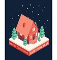 Isometric icons Merry Christmas happy new year vector image