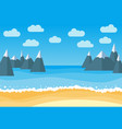 landscape with summer beach and rocks vector image