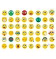mega big collection set flat emoji face emotion vector image vector image