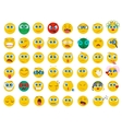Mega big collection set of flat Emoji face emotion vector image vector image