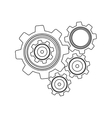 monochrome contour with set gear wheel vector image vector image