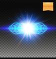 multiple ringed blue fiery burst background vector image