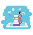 Online education millennial student tablet splash