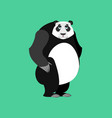 panda sad emoji chinese bear sadness emotion vector image vector image
