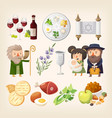 passover or pesach - traditional jewish holiday vector image vector image