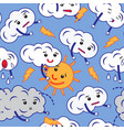pattern of clouds cartoon emoji vector image