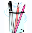 pen stand vector image vector image