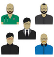people professional set flat design vector image vector image