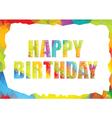polygon colorful birthday template vector image