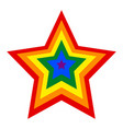 rainbow pride flag lgbt movement in star shape vector image vector image