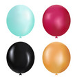realistic balloons set vector image