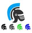 rome helmet flat icon vector image vector image