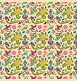 seamless floral pattern with smooth color vector image vector image