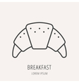 Simple Logo Template Breakfast vector image vector image