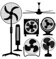 standing table ceiling fan design a set of fan vector image vector image