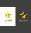 star business logo vector image vector image