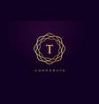 t luxury logo monogram letter design vector image