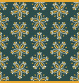 tile green seamless floral for decoration vector image