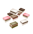 Uiro Mochi or Traditional Japanese Steamed Layer vector image vector image