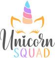 unicorn squad isolated on white background vector image vector image