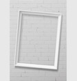 vertical white empty frame from wood vector image vector image