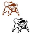 Wild buffalo vector image vector image