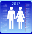 woman and man in calendar vector image vector image